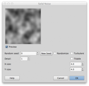 Gimp height map generation using solid noise filter